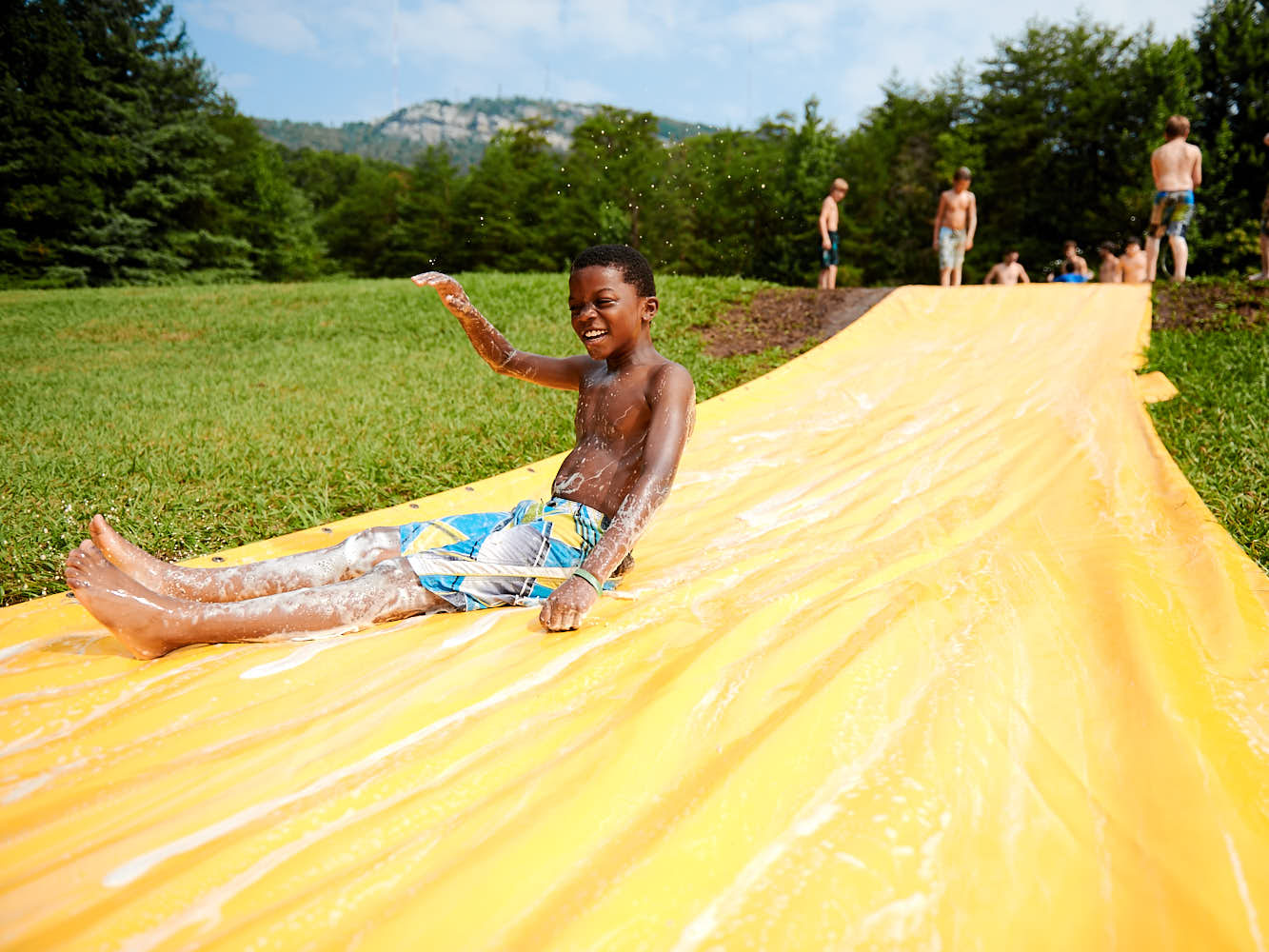 Cabin 10 Slip -n- Slide at YMCA Camp Hanes