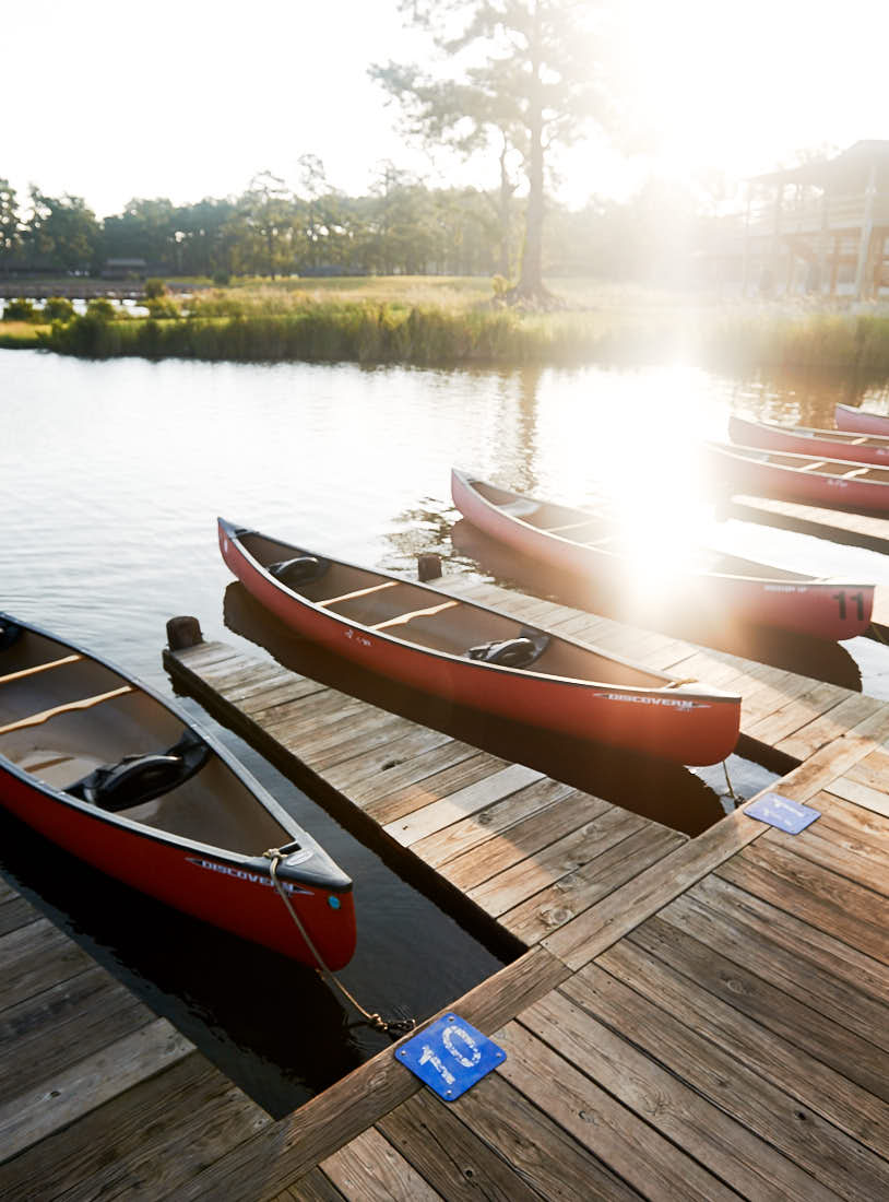 Canoes at Camp Seafarer